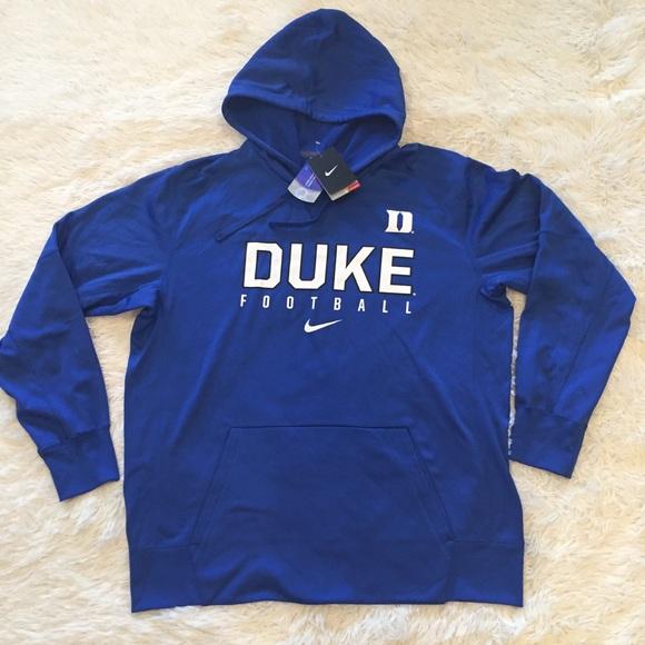 newest 76345 98971 Nike Duke Football Blue Devils Hoodie Sweatshirt